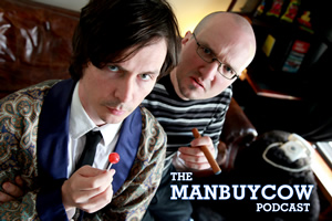ManBuyCow. Image shows from L to R: Howard Long, Rufus Penzance.