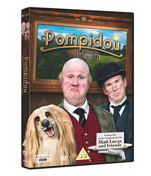 Pompidou. Image shows from L to R: Pompidou (Matt Lucas), Hove (Alex Macqueen). Copyright: John Stanley Productions.
