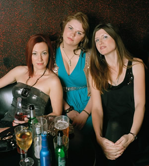 Pulling. Image shows from L to R: Karen (Tanya Franks), Donna (Sharon Horgan), Louise (Rebekah Staton). Image credit: Silver River.