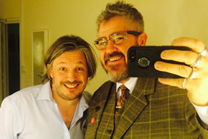 Richard Herring's Leicester Square Theatre Podcast. Image shows from L to R: Richard Herring, Phill Jupitus.