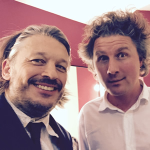 Richard Herring's Leicester Square Theatre Podcast. Image shows from L to R: Richard Herring, Ben Goldacre.