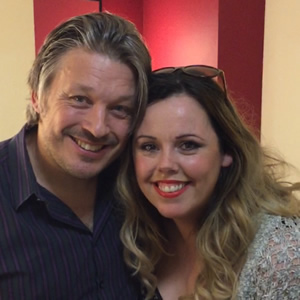 Image shows from L to R: Richard Herring, Roisin Conaty.