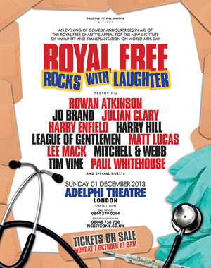 Royal Free Rocks With Laughter.