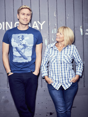 Russell Howard & Mum. Image shows from L to R: Russell Howard, Ninette Howard.