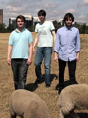 Sheeps. Image shows from L to R: Alastair Roberts, Daran Johnson, Liam Williams.