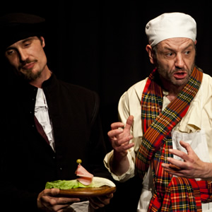 Sitcom Mission 2011. In The Meantime. Image shows from L to R: Stephen Harvey, James Sutherland.