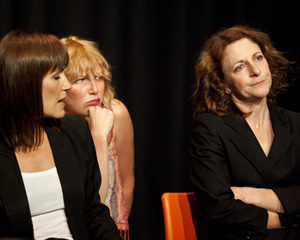 The Sitcom Mission 2011. What Next?. Image shows from L to R: Carla Mendonca, Kate Rawson, Joy Merriman.