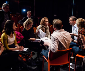 The Sitcom Mission 2012. Judging panel. Image credit: Richard Davenport.