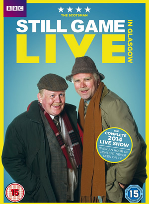 Still Game Live. Image shows from L to R: Jack Jarvis (Ford Kiernan), Victor McDade (Greg Hemphill).