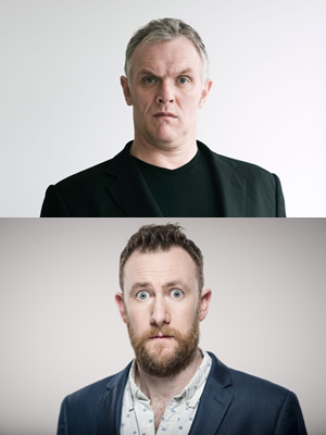 Taskmaster. Image shows from L to R: Greg Davies, Alex Horne.