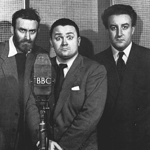 The Goon Show. Image shows from L to R: Count Jim Moriarty (Spike Milligan), Hercules Grytpype-Thynne (Peter Sellers), Neddie Seagoon (Harry Secombe). Copyright: BBC.