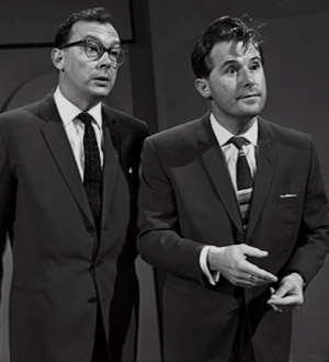 The Morecambe And Wise Show. Image shows from L to R: Eric Morecambe, Ernie Wise. Copyright: Associated Television.