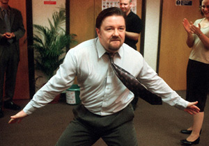 The Office. David Brent (Ricky Gervais). Image credit: British Broadcasting Corporation.