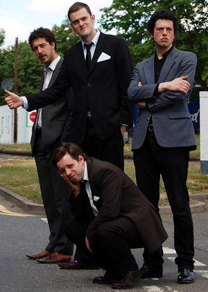 The Three Englishmen. Image shows from L to R: Jack Hartnell, Nick Hall, Tom Hensby, Ben Cottam.