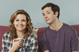 Trying Again. Image shows from L to R: Meg (Jo Joyner), Matt (Chris Addison). Copyright: Avalon Television.