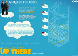Up There Game Website.