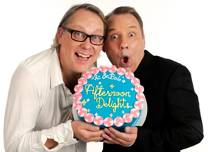 Vic and Bob's Afternoon Delights. Image shows from L to R: Vic Reeves, Bob Mortimer. Image credit: Foster's.
