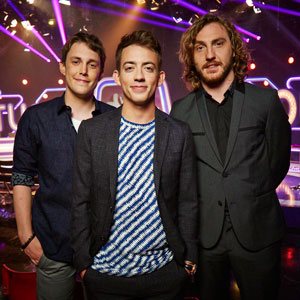 Virtually Famous. Image shows from L to R: Chris Stark, Kevin McHale, Seann Walsh. Copyright: Talkback / Hungry Bear Media.