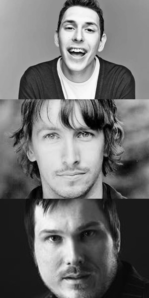 Way To Go. Image shows from L to R: Scott (Blake Harrison), Joey (Ben Heathcote), Cozzo (Marc Wootton). Copyright: BBC.