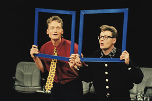 Whose Line Is It Anyway?. Image shows from L to R: Ryan Stiles, Greg Proops. Copyright: Hat Trick Productions.
