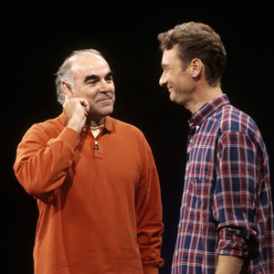 Whose Line Is It Anyway?. Image shows from L to R: Stephen Frost, Ryan Stiles. Image credit: Hat Trick Productions.