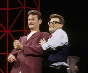 Whose Line Is It Anyway?. Image shows from L to R: Ryan Stiles, Greg Proops. Image credit: Hat Trick Productions.