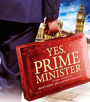 Yes, Prime Minister stage show poster.