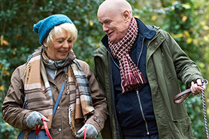23 Walks. Image shows from L to R: Fern (Alison Steadman), Dave (Dave Johns).