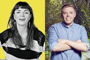 Image shows from L to R: Aisling Bea, Rob Beckett.