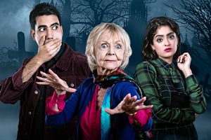 A Deal. Image shows from L to R: Tom (Jaz Deol), Lucy (Sheila Reid), Jen (Mandeep Dhillon). Copyright: Merman.