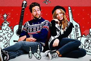 A Wonderful Christmas Time. Image shows from L to R: Noel (Dylan Edwards), Cherie (Laura Haddock). Copyright: Jolene Films.