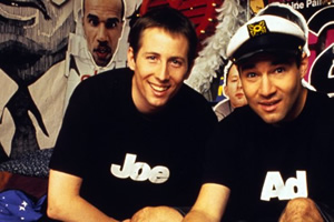 The Adam And Joe Show. Image shows from L to R: Joe Cornish, Adam Buxton. Copyright: World Of Wonder.