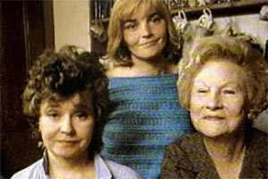 After Henry. Image shows from L to R: Sarah France (Prunella Scales), Clare (Geraldine Cowper), Eleanor (Joan Sanderson). Copyright: BBC.