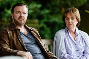 After Life. Image shows from L to R: Tony (Ricky Gervais), Anne (Penelope Wilton).