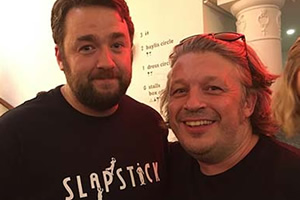 Image shows from L to R: Jason Manford, Richard Herring.