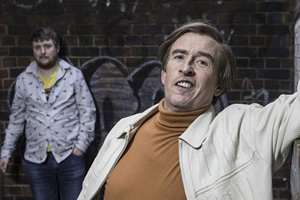 Mid Morning Matters With Alan Partridge. Image shows from L to R: Sidekick Simon (Tim Key), Alan Partridge (Steve Coogan). Copyright: Baby Cow Productions.