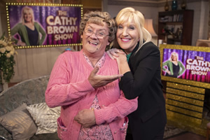 All Round To Mrs. Brown's. Image shows from L to R: Mrs Brown (Brendan O'Carroll), Cathy Brown (Jennifer Gibney).