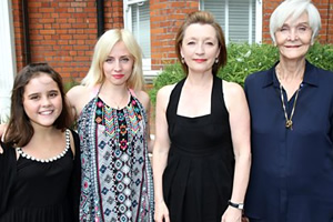 All Those Women. Image shows from L to R: Emily (Lucy Hutchinson), Jen (Sinead Matthews), Maggie (Lesley Manville), Hetty (Sheila Hancock). Copyright: BBC.