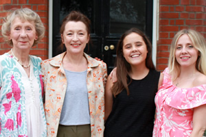 All Those Women. Image shows from L to R: Hetty (Marcia Warren), Maggie (Lesley Manville), Emily (Lucy Hutchinson), Jen (Sinead Matthews). Copyright: BBC.