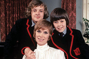 ...And Mother Makes Three. Image shows from L to R: Simon (Robin Davies), Sally Harrison (Wendy Craig), Peter (David Parfitt). Copyright: Thames Television.