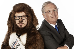 Animal Antics. Image shows from L to R: Sparky (Matthew Crosby), Tim Brooke-Taylor. Copyright: Talkback.
