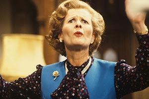 Anyone For Denis?. Margaret Thatcher (Angela Thorne). Copyright: Thames Television.