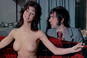 Au Pair Girls. Image shows from L to R: Randi Lindstrom (Gabrielle Drake), Stephen Wainwright (Richard O'Sullivan).
