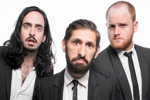 Aunty Donna. Image shows from L to R: Zachary Ruane, Mark Bonanno, Broden Kelly, Aunty Donna.