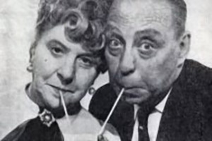 Barney Is My Darling. Image shows from L to R: Ramona Pank (Irene Handl), Barney Pank (Bill Fraser). Copyright: BBC.