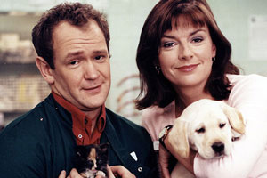 Beast. Image shows from L to R: Nick (Alexander Armstrong), Kirsten (Doon Mackichan). Copyright: Little Pond Television.