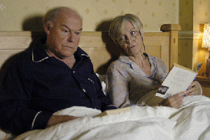 Bedtime. Image shows from L to R: Andrew Oldfield (Timothy West), Alice Oldfield (Sheila Hancock). Copyright: Hat Trick Productions.