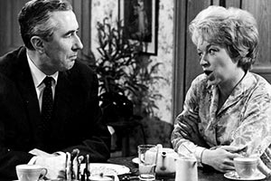 Beggar My Neighbour. Image shows from L to R: Gerald Garvey (Peter Jones), Rose Garvey (June Whitfield). Copyright: BBC.