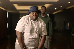The Big Narstie Show. Image shows from L to R: Tyrone Lindo, Mo Gilligan.