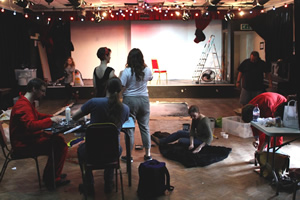 Volunteers helping with preliminary clearance work for the BIT. Copyright: The Bristol Improv Theatre.